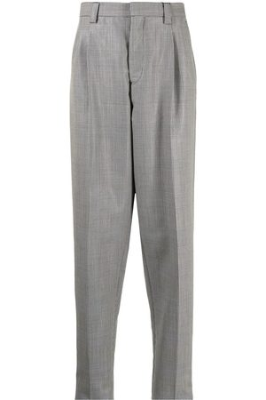 Emporio Armani Checked tapered trousers - Grey