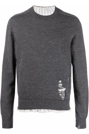 Maison Margiela Anonymity of the lining knit jumper - Grey