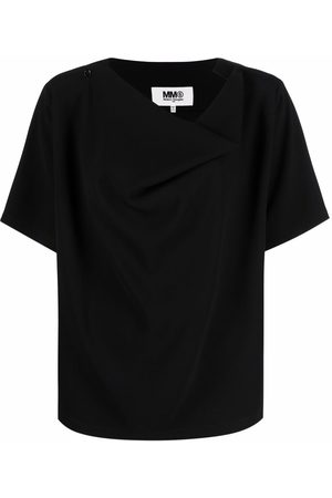 MM6 MAISON MARGIELA Women Short Sleeve - Draped short-sleeve T-shirt
