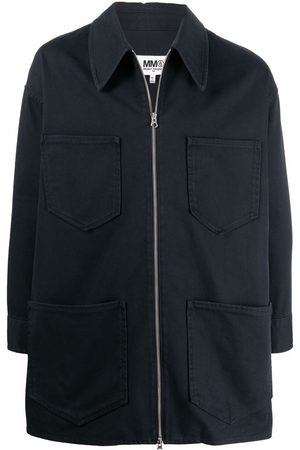 MM6 MAISON MARGIELA Zip-front patch-pocket short sports jacket