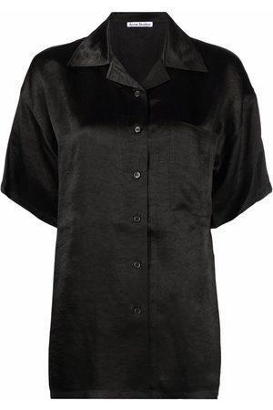 Acne Studios Crease-effect short-sleeved shirt