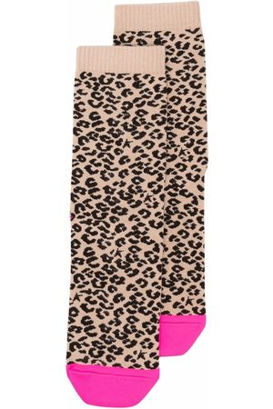 Golden Goose Socks - Leopard intarsia-knit ankle socks