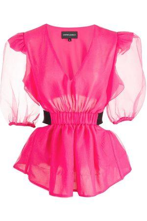 Cynthia Rowley Organza cut-out blouse