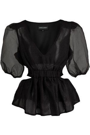 Cynthia Rowley Women Blouses - Organza cut-out blouse