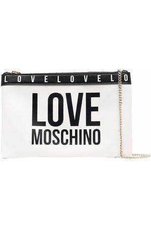 Love Moschino Logo-print clutch bag