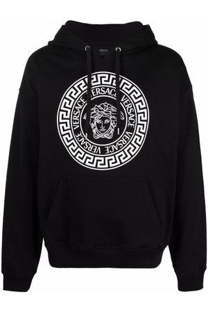 VERSACE Medusa logo-print relaxed hoodie