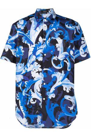VERSACE Baroccoflage-print poplin shirt