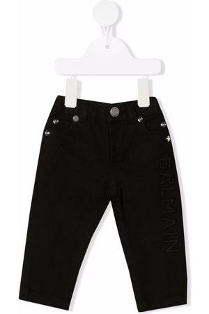 Balmain Logo-detail skinny-cut trousers