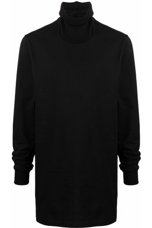 Rick Owens Roll-neck organic-cotton sweatshirt
