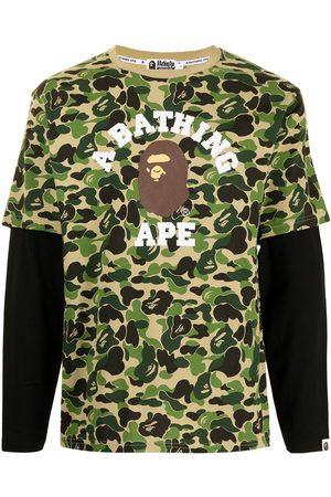 A Bathing Ape Men T-shirts - Layered camouflage T-shirt