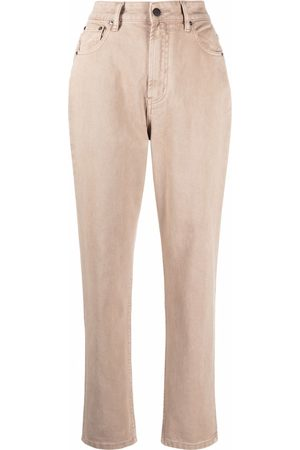 12 STOREEZ High-rise tapered jeans - Neutrals