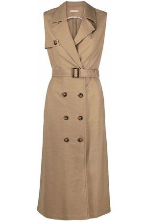 12 STOREEZ Women Sleeveless Dresses - Sleeveless trench dress - Neutrals