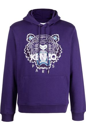 Kenzo Men Hoodies - Tiger embroidered relaxed hoodie