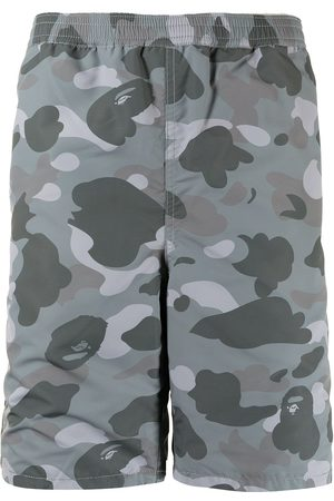 A Bathing Ape Camouflage-print mid-rise shorts