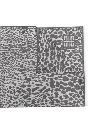 Givenchy Women Scarves - Leopard-intarsia scarf