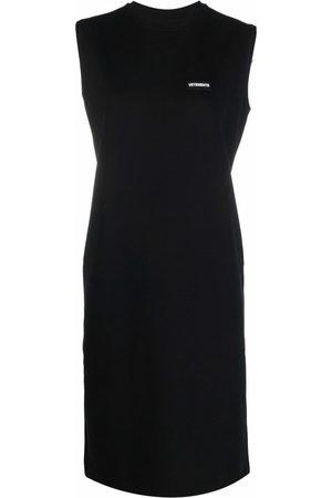 VETEMENTS Logo-patch tank dress
