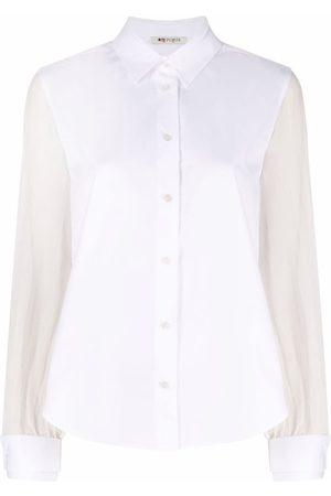 PORTS 1961 Women Long sleeves - Longsleeved jersey-panelled shirt