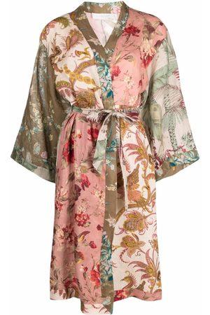 ZIMMERMANN Women Bathrobes - Cassia spliced linen robe - Neutrals