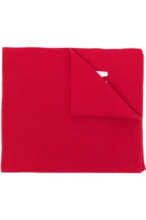 Dsquared2 Embroidered-logo ribbed-knit scarf