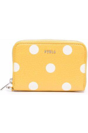 Furla Polka dot-print leather purse