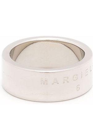 MM6 MAISON MARGIELA Engraved wide-band ring