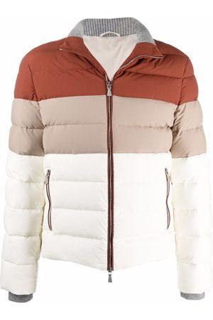 ELEVENTY Men Puffer Jackets - Colour-block padded jacket - Neutrals