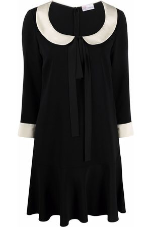 RED Valentino Rounded-collar flared dress