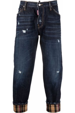 Dsquared2 Work Wear check-cuff jeans