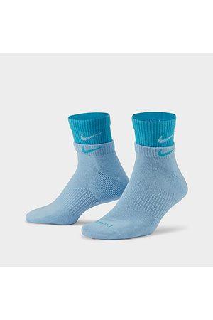 Nike Everyday Plus Cushioned Training Quarter Socks (2-Pack) Size Medium Cotton/Nylon/Polyester