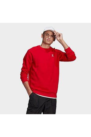adidas Men's Originals LOUNGEWEAR Trefoil Essentials Crewneck Sweatshirt in /Scarlet Size X-Small 100% Cotton