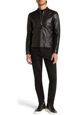 Giuseppe Zanotti Men Leather Jackets - WHISKEY