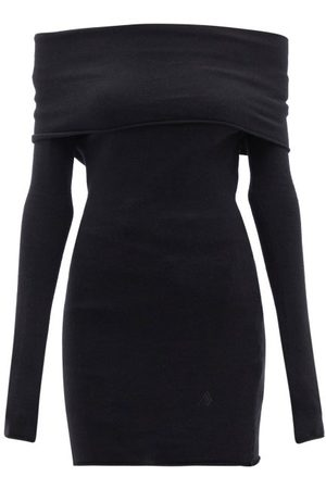 The Attico Off-shoulder Wool-blend Jersey Top - Womens