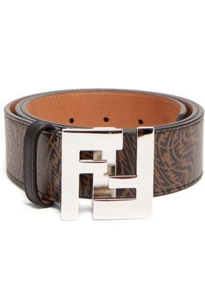 Fendi Vertigo Ff-print Leather Belt - Mens - Multi