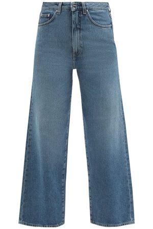 Totême Women High Waisted - High-rise Cropped Jeans - Womens - Mid Denim