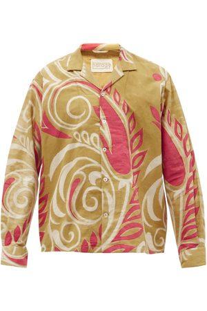 Harago Kaladera Abstract Floral-print Cotton Shirt - Mens - Multi