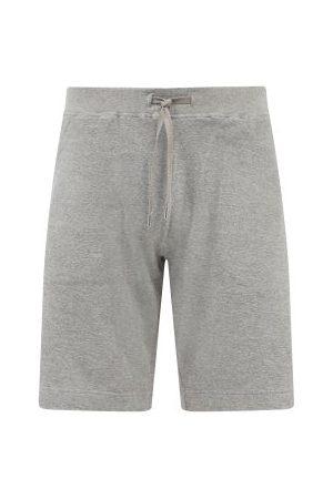 Sunspel Drawstring Organic Cotton-terry Shorts - Mens - Grey