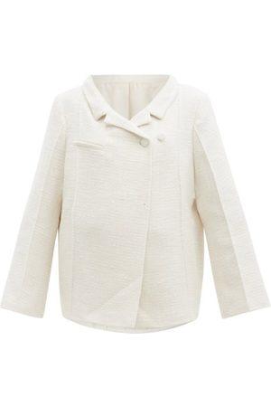 Totême Notched-lapel Cotton-blend Bouclé Jacket - Womens - Ivory