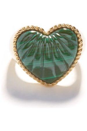 Yvonne Léon Heart Malachite & 9kt Signet Ring - Womens
