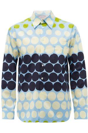 Marni Dot-print Cotton-poplin Shirt - Mens