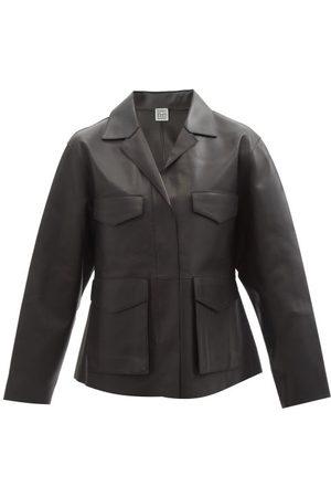Totême Army Leather Jacket - Womens