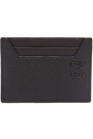 Loewe Men Wallets - Anagram-debossed Grained-leather Cardholder - Mens