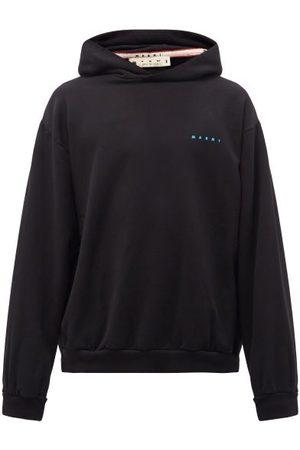 Marni Logo-print Cotton-jersey Hooded Sweatshirt - Mens