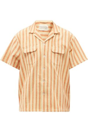 Harago Jacquard-striped Upcycled Linen-chambray Shirt - Mens - Multi