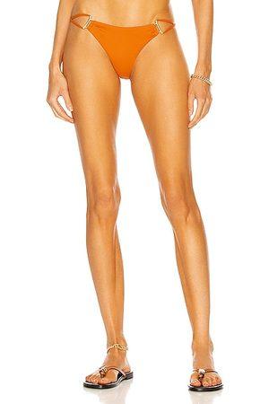Cult Gaia Riley Bikini Bottom in Burnt Orange