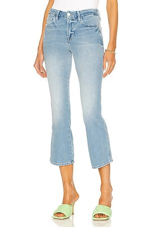 Frame Le Crop Mini Boot Double Needle in Blue