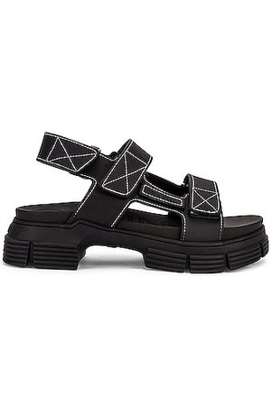 Ganni Recycled Rubber Sandal in