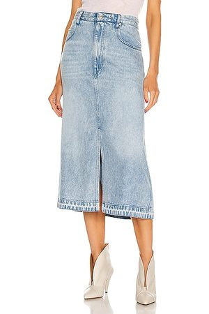 Isabel Marant Tilauria Skirt in Denim-Light