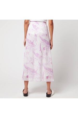 Ganni Women's Pleated Georgette Skirt