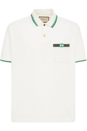 Gucci Logo Web Cotton Polo