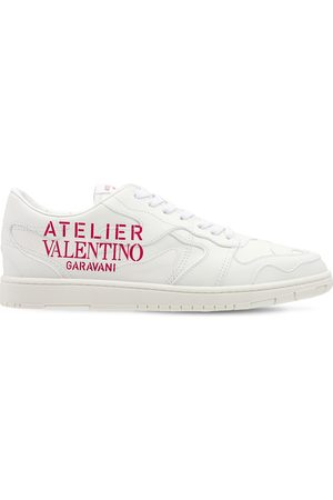VALENTINO GARAVANI Atelier Valentino Camo Leather Sneakers